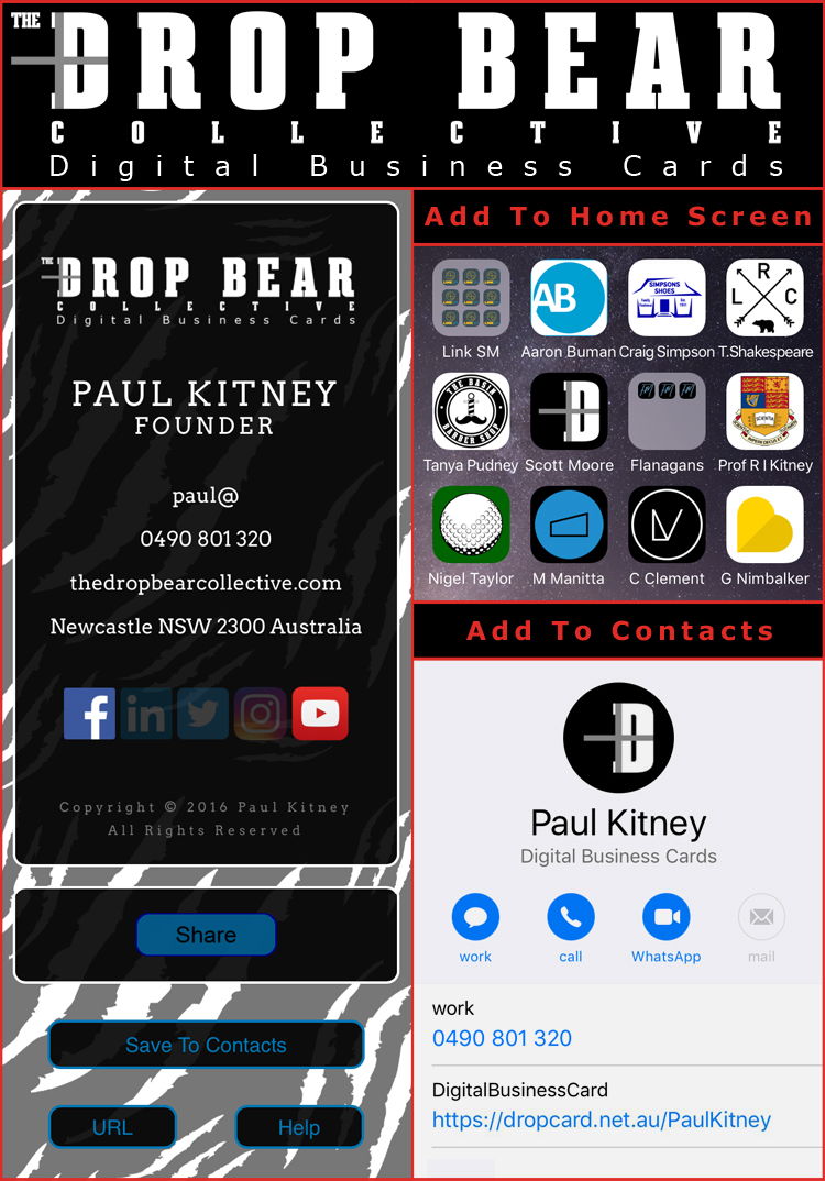 The Drop Bear Collective | interactive Digital Business Cards & Websites
